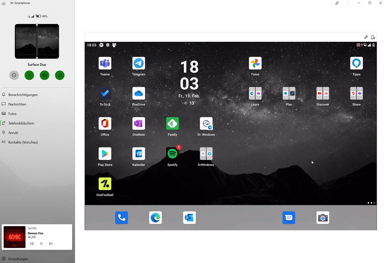 Ihr Smartphone für Windows 10