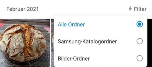 OneDrive Filterfunktion für Ordner