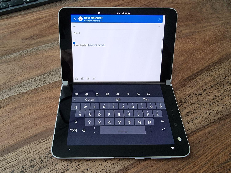 Surface Duo Laptop Modus