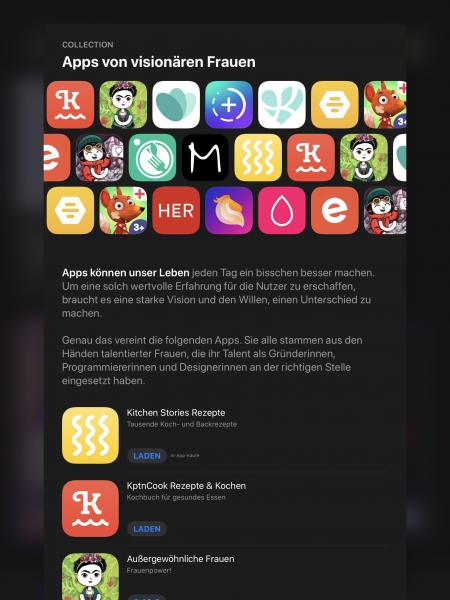 Kuratierte App-Empfehlungen in Apples App Store