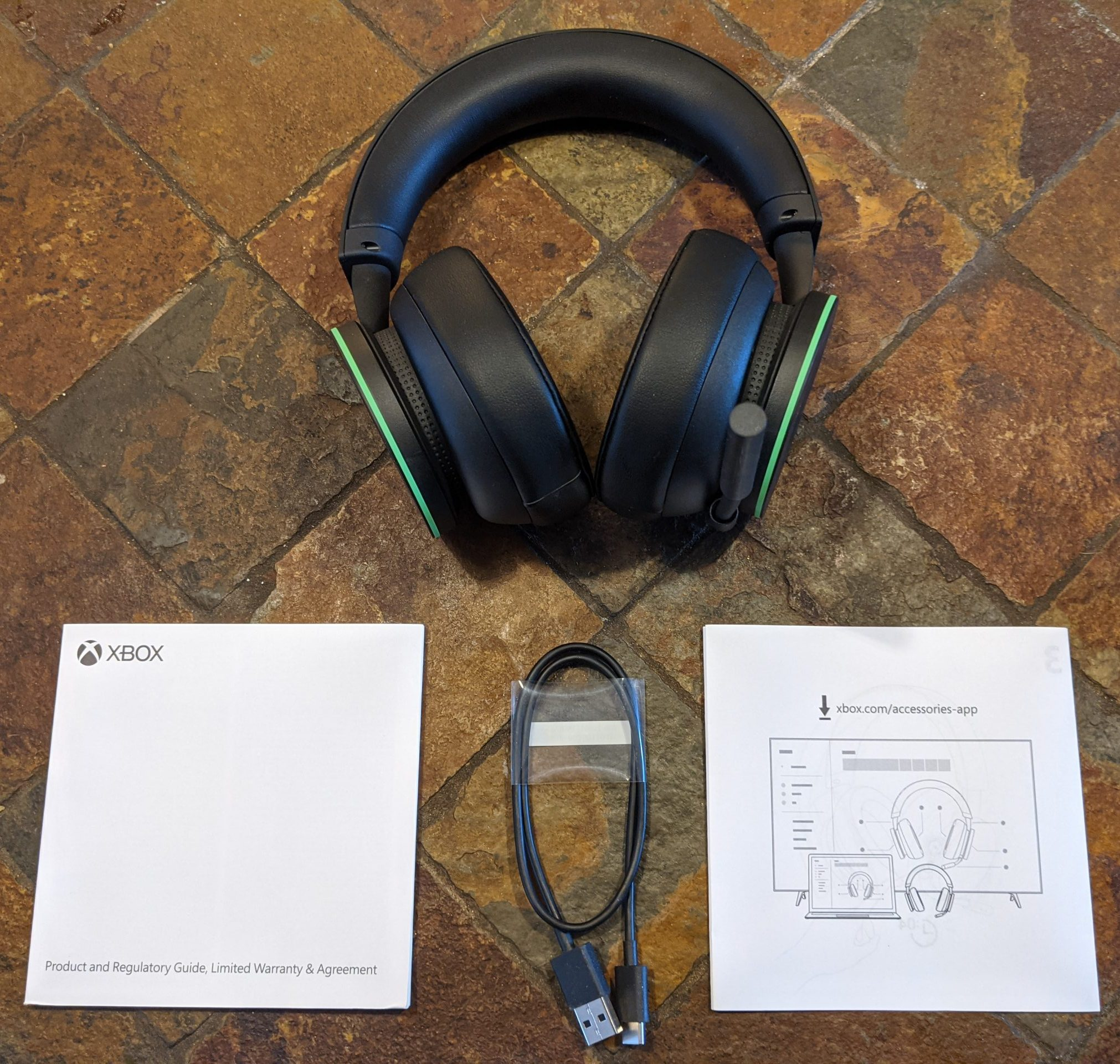 Xbox Wireless Headset Packungsinhalt
