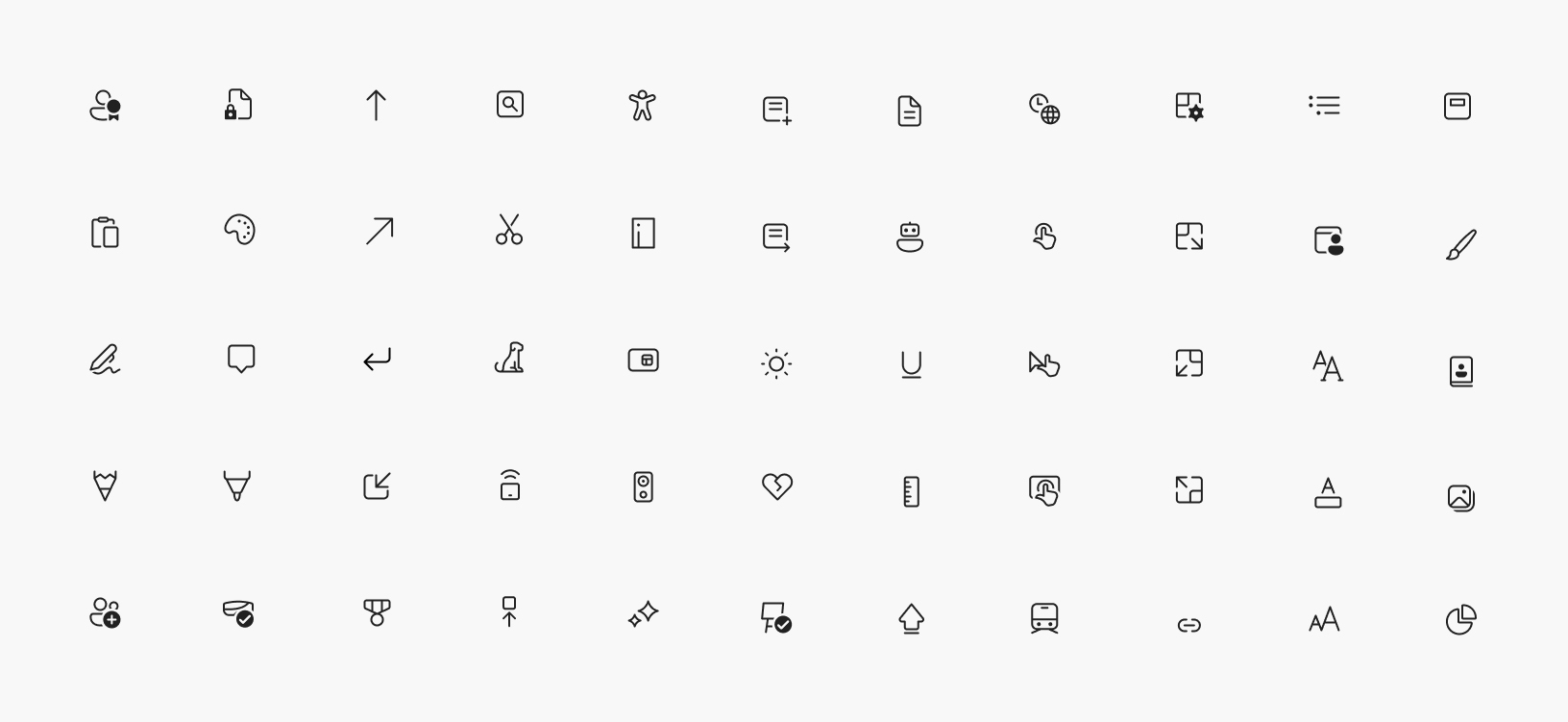 Windows 10 Fluent Design Icons