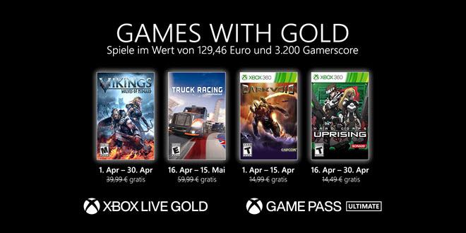 Games with Gold im April 2021: Wikinger, LKWs und Aliens