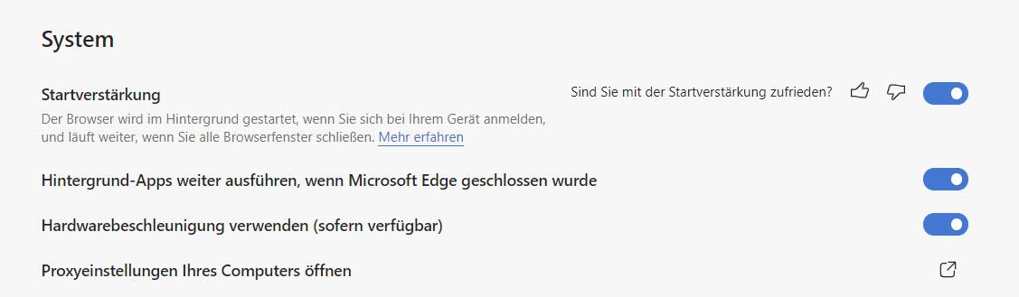 Microsoft Edge Startup Boost