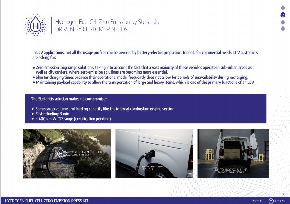 Gründe für den Einsatz von Brennstoffzellen im Nutzfahrzeug sind die hohe Reichweite im Vergleich zu Batterieelektrischen Nutzfahrzeugen und der ausreichende Bauraum für die Komponenten eines Brennstoffzellen-Fahrzeugs.