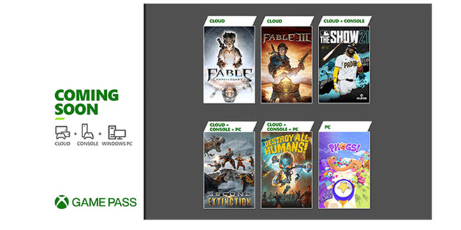 Xbox Game Pass Update April 21 - 2