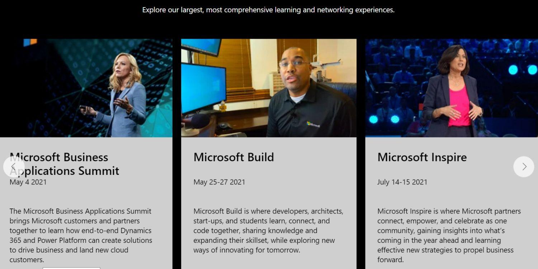 Microsoft Eventseite