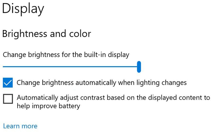 Windows 10 Einstellung für automatischen Kontrast
