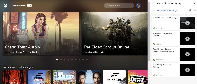 Xbox Cloud Sammlung