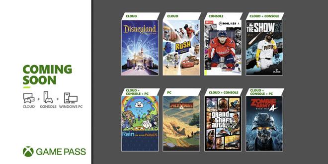 Xbox Game Pass: GTA V kehrt zurück, NHL 21 kommt via EA Play, über 50 Spiele mit Touch-Steuerung