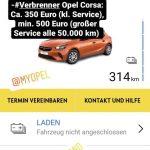 Jedes Jahr muss der Elektro-Corsa zum Service in die Werkstatt. Bei einer Opel-Fachwerkstatt kostet der jährliche Service beim Corsa-e 275 Euro, während beim Modell mit Verbrennungsmotor mindestens 350 Euro für den jährlichen Service bei Opel fällig werden.