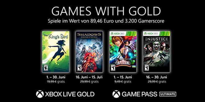 Xbox: Das sind die Games with Gold im Juni 2021