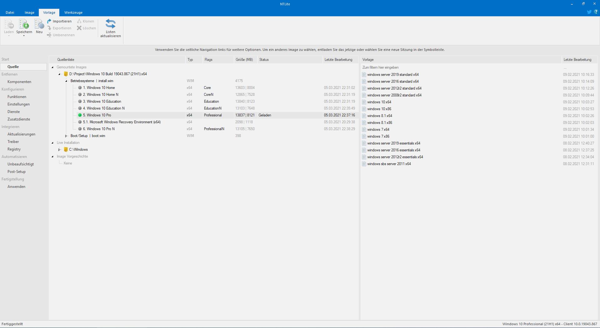 NTLite Screenshot
