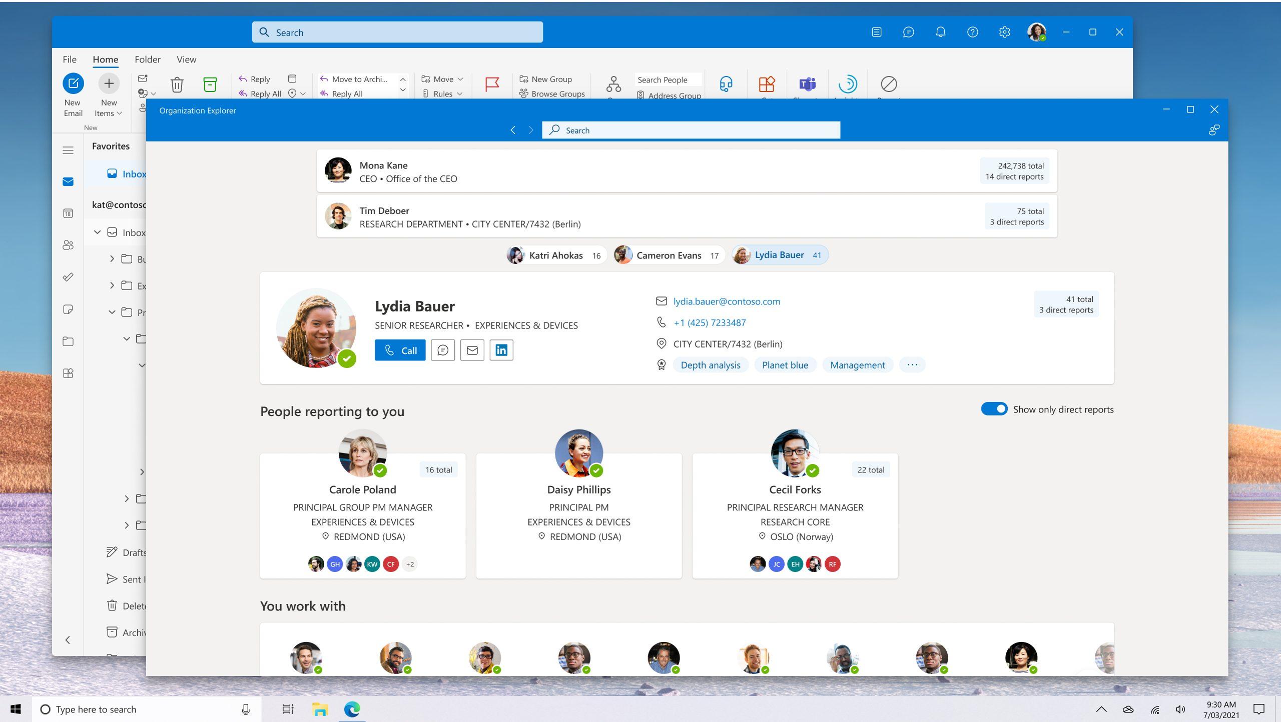 Outlook Org Explorer