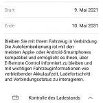 Smartphone-App My Opel mit kostenlosen E-Remote-Services.