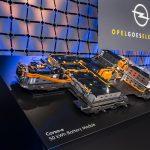 Akkupaket mit 50 kWH (brutto) bzw. 45 kWh Netto-Kapazität besteht aus 18 Akkuzellmodulen vom chinesischen Hersteller CATL (Quelle: Opel).