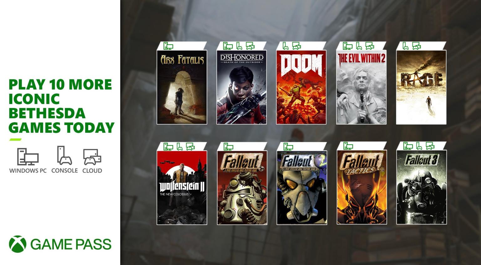 Neue Bethesda Spiele im Xbox Game Pass