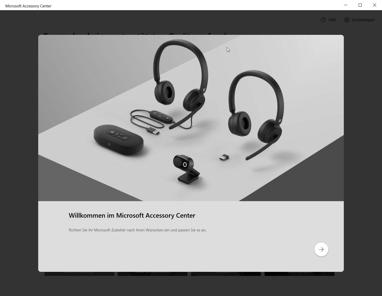 Microsoft Accessory Center Screenshot