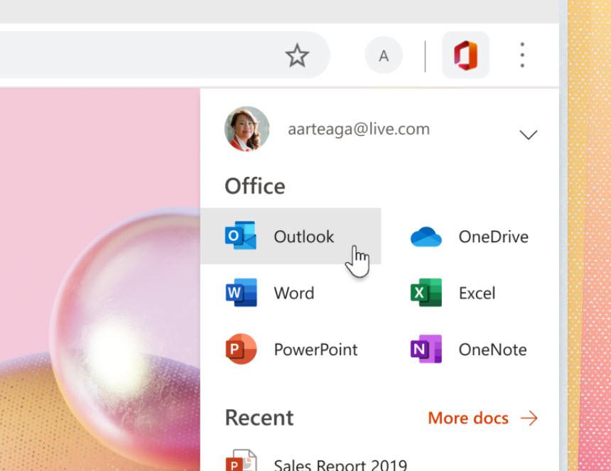 Office AddOn für Edge