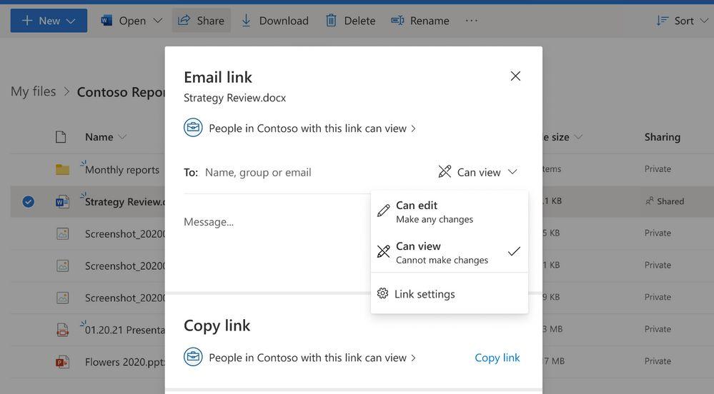 Einstellungen für den Zugriff auf geteilte Dateien
