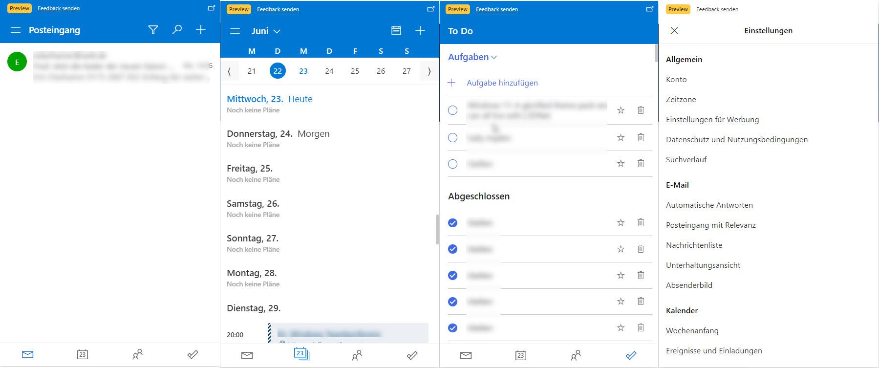 Outlook AddOn für Edge