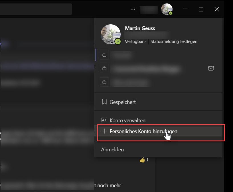 Microsoft Teams für geschäftliche und private Nutzung einrichten