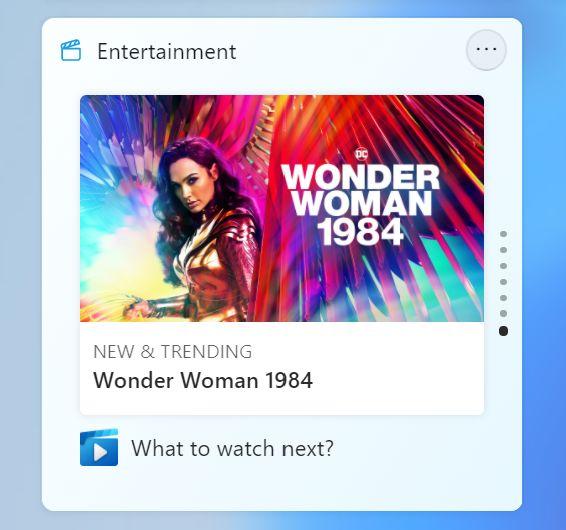 Windows 11 Unterhaltungs Widget