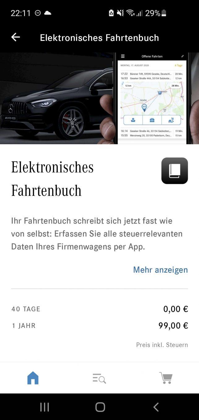 Mercedes-me-Store-Kauf-Elektronisches-Fahrtenbuch