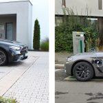 Vergleich-Mercedes-Benz-E300de-links-vs-BMW-530e-rechts