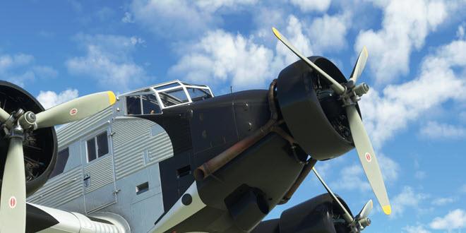 """Abheben mit """"Tante Ju"""": Junkers JU-52 ab 7. September für den Microsoft Flight Simulator erhältlich"""