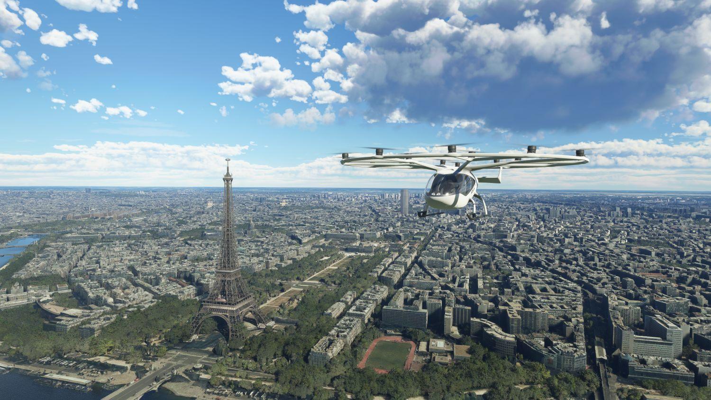 Volocopter im Microsoft Flight Simulator