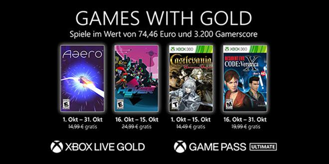 Games with Gold im Oktober: Zeit für ein bisschen Nostalgie