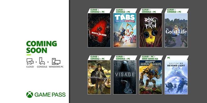 Neu im Xbox Game Pass: Destiny 2, Back 4 Blood und mehr