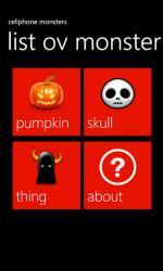 Cellphone Monsters - Halloween - Windows Phone 7 App .png
