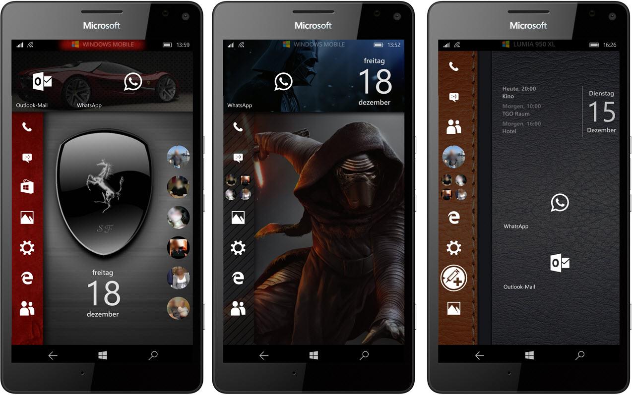 Kachel layout  Windows 10 Mobile Startbildschirm ohne Kacheln? Ja, das geht ...