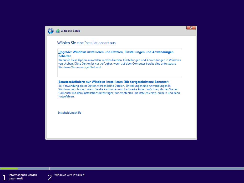 Schritt f r schritt die installation von windows 10 for Windows windows windows