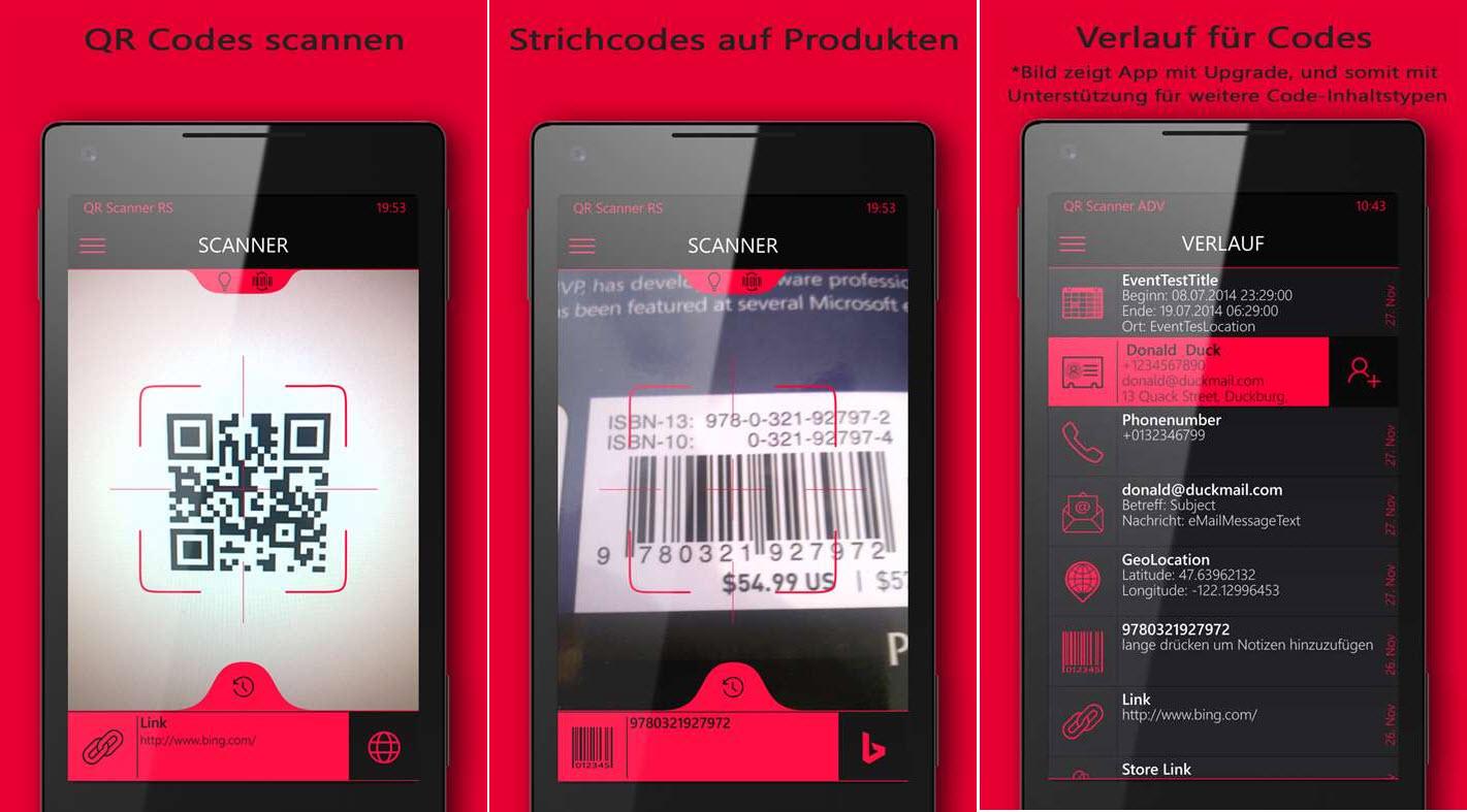 app tipp qr scanner rapid scan und qr scanner mit gratis codes und rabattaktion f r. Black Bedroom Furniture Sets. Home Design Ideas