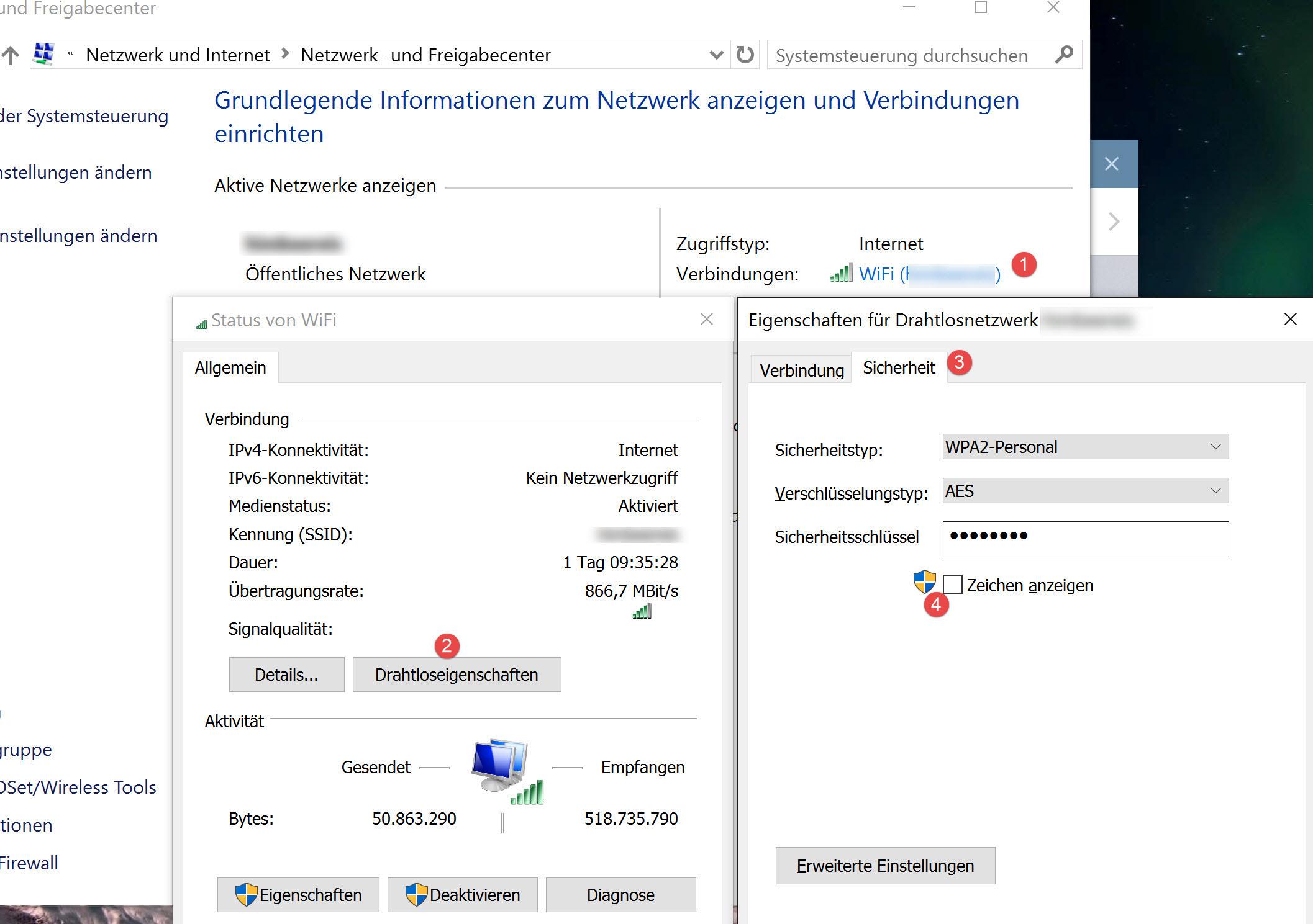 WLAN Passwort auslesen unter Windows
