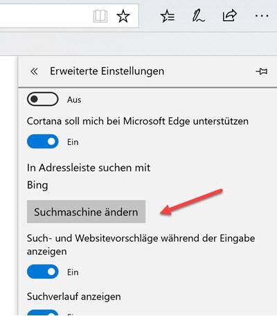 Windows 10 Suchmaschine ändern