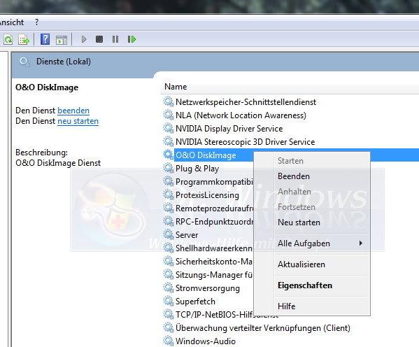 O&O Software verhindert Erstellung des Systemintegrationsberichtes ...