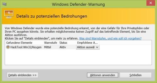 Windows 8 Seriennummer / Produktkey auslesen
